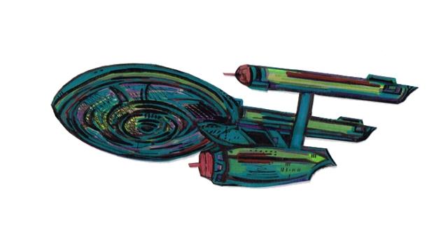 Enterprise USS TOS Full Fig side L12052015