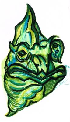 Chamelian Head Green