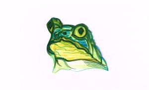 Frog Head Grn Blu Wht08292015
