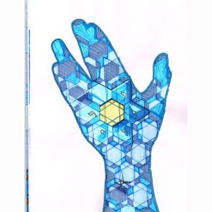 Hand Blue Star