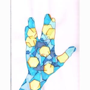 Hand Star Blu centers