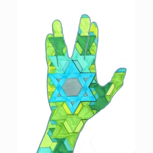 Hand Star Greens 4