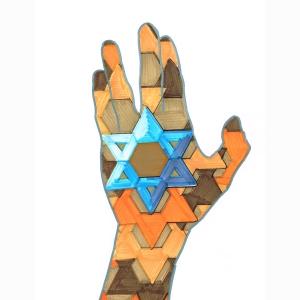 Hand Star Orange Browns 5