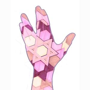 Hand Star Pinks 6