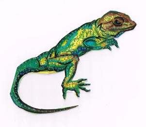 Lizard Green Collared
