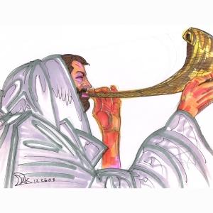 New Year Ram Horn