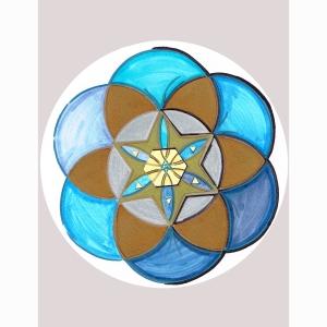 Star Stencil Circle 6
